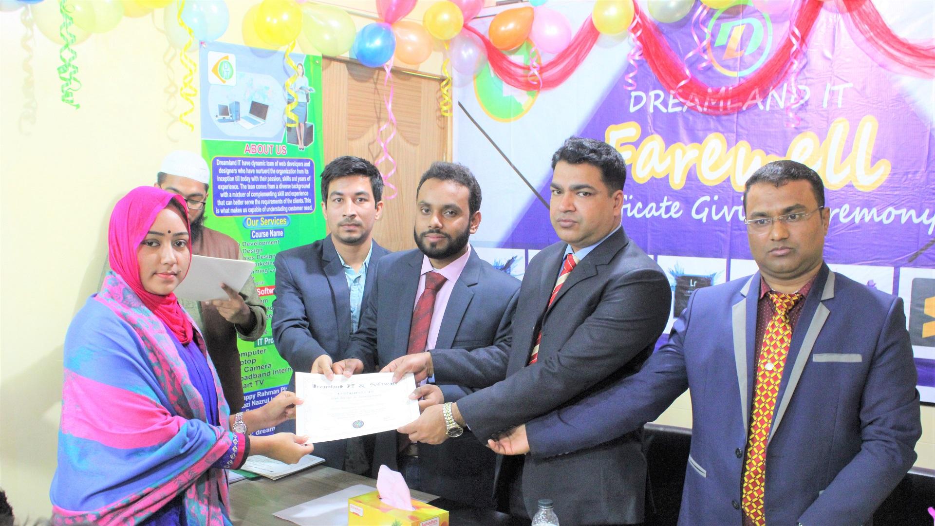 #dreamlandit certificate